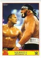 2015 Topps WWE Road to Wrestlemania Hulk Hogan Tribute #29 Faces The Rock