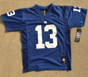 Odell Beckham Jr 13 Boys Youth MEDIUM NY Giants BLUE Jersey NFL Football Shirt