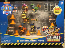 New Paw Patrol Ultimate Rescue Construction Pups Action Pack Toy Gift Set