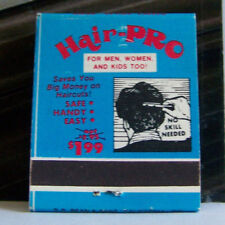 Rare Vintage Matchbook Cover D1 Hair Pro Save Money No Skill Needed Haircuts