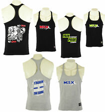 MRX Men's Gym Training Exercise Vest Sports Workout Gear Fitness Stringer Tops