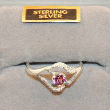 Sterling Silver Pink Tourmaline Ring size 6 (12863)