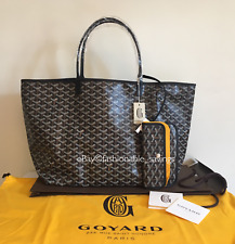 Goyard Black St. Louis GM Canvas Tote Shoulder Bag 2018 New Authentic