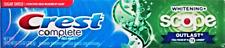 CREST Complete 'Outlast' Whitening Flouride Toothpaste 206 gr Original aus USA