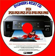 EPSON XP520 XP620 XP720 XP760 XP820 WASTE INK PAD COUNTER FIX ENGINEERS RESET CD