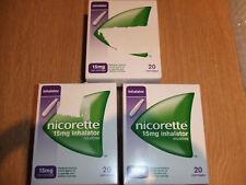 Nicorette 15MG Inalatore Cartucce 20 per confezione (3 CONFEZIONI)