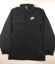 Nike NSW Sportswear Mens Small Black White Tech Varsity Woven Hybrid Jacket $80