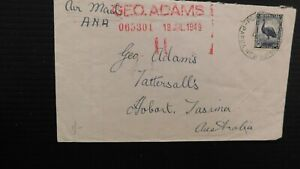 """PAPUA -1949 """" AUSTRALIAN STAMP USED IN """" Cover to Tasmania Used """"PORT MORESBY"""""""