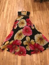 Lore Ball Gown Bnwt Rrp £169 Chiffon, Flowers And Sequins Uk Size 10/12