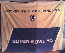 "SUPER BOWL 50 NATIONAL FOOTBALL LEAGUE CLOTH BANNER 91"" X 76"" USED LEVI STADIUM"