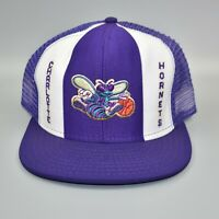 Charlotte Hornets AJD Lucky Stripes NBA Vintage 80's - 90's Snapback Cap Hat