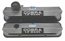 FORD COBRA LE MANS ALUMINUM SATIN BLACK VALVE COVERS KIT 352 360 390 427 428