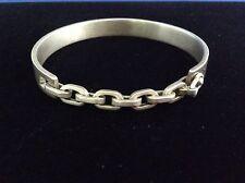 Beautiful Versani NY Brushed Sterling Cuff Chunky Chain Link Biker Bracelet