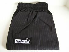 Chef Wear 3130 Low Rise Boot Cut Pant Blk/Gray Cook Restaurant Kitchen Size 4X