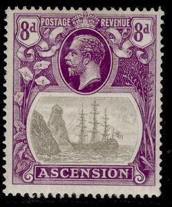 ASCENSION GV SG17, 8d grey-black & bright violet, LH MINT. Cat £20.
