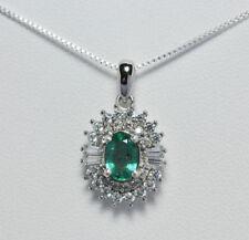 Collane e pendagli di lusso con gemme smeraldo naturale