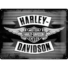BLECHSCHILD 23189 - HARLEY DAVIDSON - WINGS LOGO - 30x40 cm - NEU