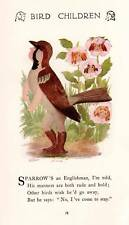 Sparrow 1912 Vintage Bird Children Art Print by M T Ross