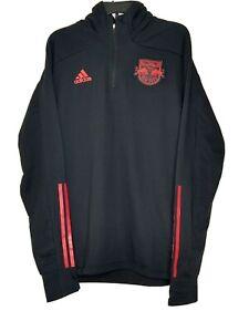 Adidas New York Red Bulls 3 Stripes Men's Size XL Travel Hooded Soccer Jacket
