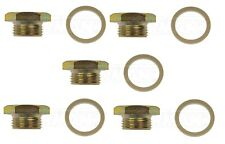 For Chrysler Dodge Set of 5 Oil Drain Plugs Standard 7/8-14 Head Size 1-1/8 In.