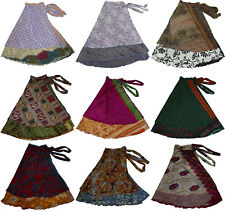 "Lot Of 10 Pcs Wholesale Skirts Sari Magic Wrap Vintage Original Manufacturer 36"""