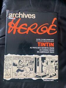 Livre Tintin Archives Herge
