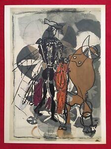 George Braque, Bullfighter 2, Original Mourlot Lithograph 1955