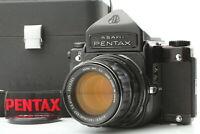 [Near MINT w/ Case] PENTAX 6x7 67 Eye Level + SMC Takumar 105mm f/2.4 From JAPAN