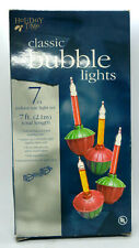 Bubble Lights - Vintage Christmas Glass Lights Tested and Working - 7 Strand