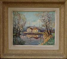 Tableau 1950 Raymond Perisse Peintre Lorraine Meurthe-et-Moselle Xeuilley Madon
