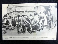 OLD PPC~SIERRA LEONE~FREETOWN~BRITISH TROOPS & NATIVES~1914/1918~ANIMATED