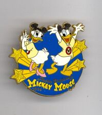 Disney Mouseketeers Daisy & Donald Duck Mickey Mouse Club Hat Ears Le Pin & Card