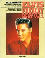 BAND SCORE ELVIS PRESLEY BEST Vol.1 Japan Music Book