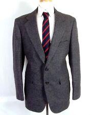 euc Thornhill Men's Gray Plaid 100% Wool Tweed Blazer Sportcoat sz 42 R