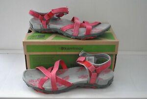 Pink salina leather quality hiking walking water sandals size 8 (41) Karrimor