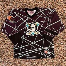 Vintage 90s Nike Anaheim Mighty Ducks D3 Hockey Jersey NHL Sz L Made In USA