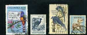 BIRDS OF COLOMBIA, U.S.A..- JAPAN,-    LOT OF 4