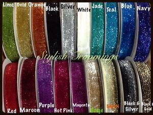 25mm Glitter Velvet Ribbon-Jewellery-Wedding-Christmas-Gift Wrap-Beautiful color