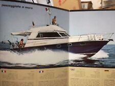 Nautica Rio 11 metri barca brochure advertisement listino equipaggiamento 1976