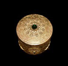 New ListingGorgeous Antique *Jeweled Ormolu* Brass *Powder Box /Music Box* by Thorens