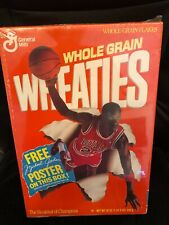 "Michael Jordan on 1989 Wheaties ""sealed/new"" box - free poster"