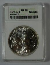 2001-D Silver Buffalo Commemorative Dollar ANACS MS68