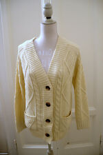 Cardigan panna ASOS Petite cream aran cardigan UK12 EU40 IT38