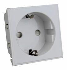 Varilight DSEUFW DataGrid White 16A Euro Socket Schuko (2 DataGrid Spaces)