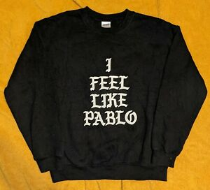 I Feel Like Pablo Sweatshirt Medium Black Kanye West Yeezy Merch