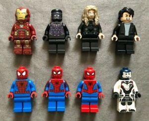 LEGO MARVEL 8 MINIFIGURE LOT FROM: SPIDER-MAN, INFINITY WAR & ENDGAME SETS