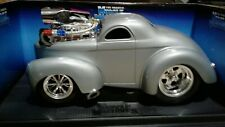 MUSCLE MACHINES 1941 WILLYS COUPE SOLID GRAY 1/18 SCALE