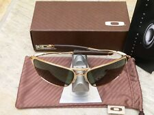 OAKLEY INMATE WIRE POLISHED GOLD GREY SONNENBRILLE PROBATION SPIKE FELON JULIET