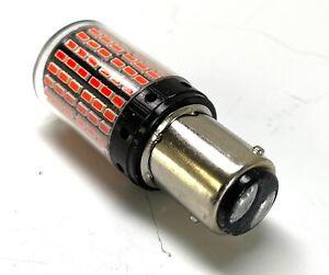 2x P21/5W  BAY15d 1157 LED,  ROUGE 12V 20W 360° sous GLOBE,  CAN BUS