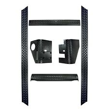 Rugged Ridge Black 6-Pc Diamond Plate Body Armor Kit, 97-06 TJ Wrangler 11650.51